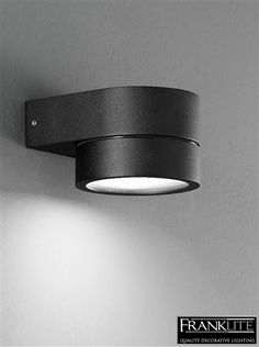 Franklite Nocturn Exterior Black Cast Aluminium Downlight Or Uplight IP54 Wall Fitting - EXT6570EL None