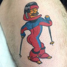 Harry Shearer—the voice behind Ned Flanders, Mr. Burns and more—is leaving The Simpsons. Celebrate his time on the show with these The Simpsons tattoos. Simpsons Tattoo, Futurama Tattoo, Epic Tattoo, Badass Tattoos, Great Tattoos, Beautiful Tattoos, Die Simpsons, Simpsons Art, Cartoon Tattoos