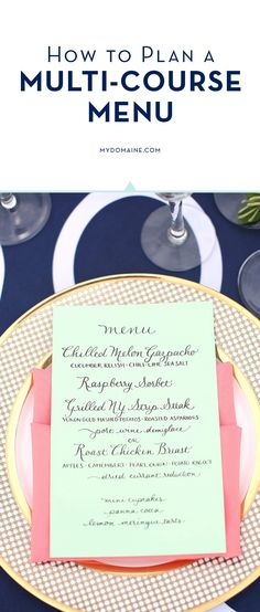 Here's how to plan a menu // dinner party tips