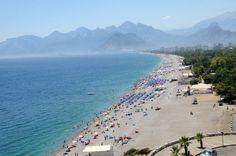 Antalya beach - Med coast of Turkey