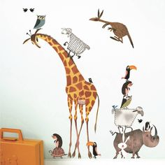 Fiep Westendorp Wall Stickers 'Animals' (set) by KEK Amsterdam, set of 20 vinyl wall art stickers. Dimensions sheet: 42 x 59 cm. Baby Boy Rooms, Little Girl Rooms, Baby Room, Wall Stickers Animals, Diy Gifts For Kids, Playroom Decor, Vinyl Wall Art, Wall Decals, Baby Kind
