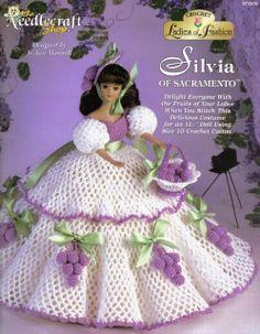 LOF Silvia of Sacramento Crochet Barbie Fruit Grapes Bedroom Dresser Hat Basket