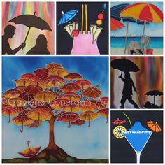 "0 Likes, 1 Comments - Gaylene Lonergan (@gaylenelonerganart) on Instagram: ""Here are some of my Umbrella Paintings. Enjoy and stay dry ☔️💕 #gaylenelonerganart #art #buyart…"""