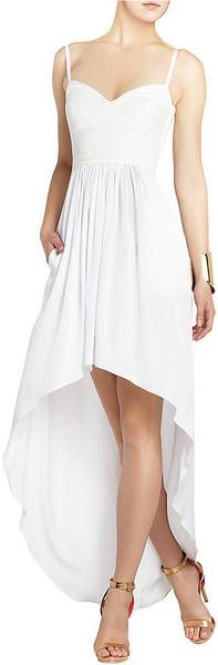 Bcbgmaxazria Annamae Bustierstyle Evening Dress in White | Lyst
