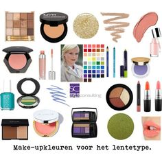 Make-upkleuren voor het warme lentetype.