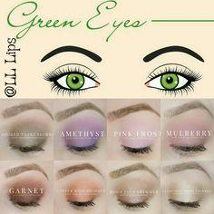 Green eyes + ShadowSense Lipsense Distributor #257438 www.senegence.com Instagram: @lovely.lips.last  Facebook :Lantzloveslipstick