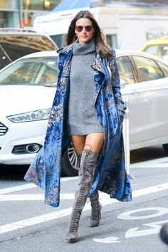 5 Perfect Outfits Spotted at the Victoria's Secret Model Fittings via @WhoWhatWear