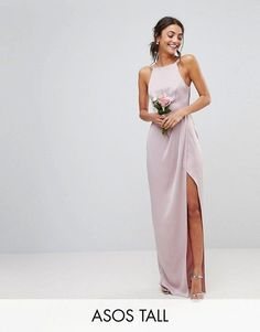 I really like the square neck and slit as a style for a wedding dress. Obviously I'd need to get it in petite and maybe white or ivory. The silky material is also really nice.