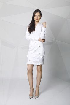 Skirt White Pencil, White Dress, Spring Summer, Dresses For Work, Skirts, Shopping, Collection, Fashion, Moda