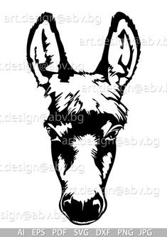 Donkey Drawing, Christmas Silhouettes, Pyrography Patterns, Cowboy Art, Stencil Patterns, Silhouette Art, Animal Sketches, Mural Painting, Donkeys