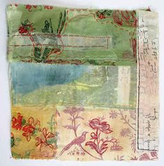 collage art, mixed media, stitching on fabric, stitching, art, creating, diy