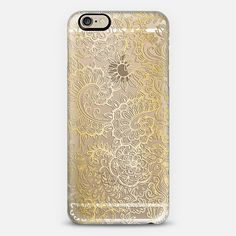 Golden Doodle on Crystal Transparent Phone Case | iPhone 6 | Casetify | Graphics | Painting | Transparent  | Micklyn Le Feuvre
