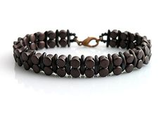 Crescent and rulla beads bracelet  http://www.sashe.sk/kacenkag/detail/cokolada