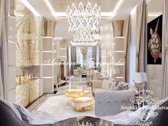 Интерьер гостиной с камином. Фото