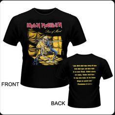 Camiseta de chico M/C  Iron Maiden - Piece Of Mind