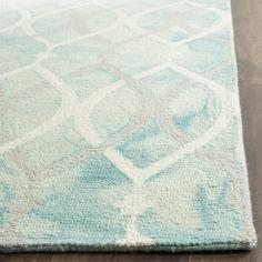 Safavieh Handmade Dip Dye Green/ Ivory Grey Wool Rug (9' x 12')
