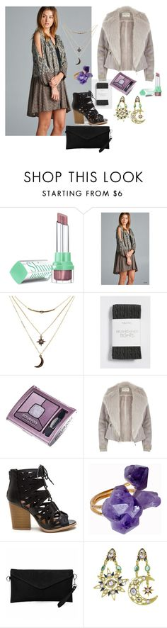 """bohemian romantic outfit for fall-winter"" by p-bulgari ❤ liked on Polyvore featuring Bourjois, Charlotte Russe, maurices, River Island and Helix & Felix"