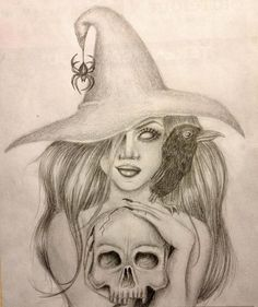 Like this. But not the cross on the spider. That's not what true witches are about..