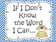 When I Don't Know the Word... Freebie Posters