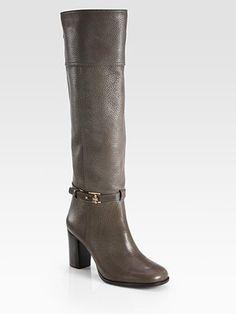 Tory Burch - Jenna Leather Knee-High Boots - Saks.com
