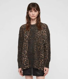 Women's knitwear, shop now. Cardigan Sweaters For Women, Sweater Cardigan, Jumper, Brighton, Brown Image, Leopard Sweater, Autumn Fashion Casual, All Saints, Latest Fashion For Women