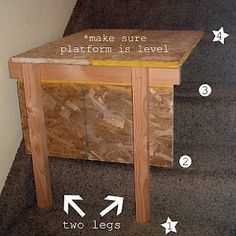 make this to paint on stairs with a high vaulted ceiling. Clever.
