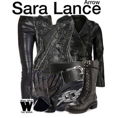 Inspired by Caity Lotz as Sara Lance/Black Canary on Arrow.