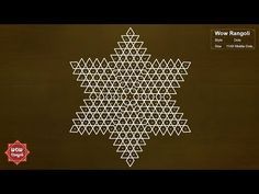 Easy Star Kolam | Margazhi - Pongal Kolam | Sankranthi - Dhanurmasam Muggulu | Star Rangoli - YouTube Indian Rangoli Designs, Simple Rangoli Designs Images, Rangoli Designs Latest, Rangoli Border Designs, Small Rangoli Design, Rangoli Ideas, Rangoli Designs With Dots, Rangoli With Dots, Beautiful Rangoli Designs