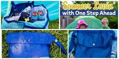 """Summer Lovin' with One Step Ahead and DailyMom!  """"The Sand Away Mesh Beach Bag allows you to bring home everything but the sand! The popular beach bag will hold all your necessities, from towels to toys and gear, and even a sand pail and shovel or two! Once you arrive at your destination, it then folds easily away into the self-contained pouch. Or, use the pouch as a zippered compartment, perfect to stow away your keys or ID..."""""""
