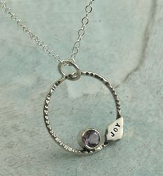 Joy Necklace  sterling silver and amethyst by by Kathryn Riechert