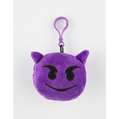 Plush Devil Emoji Keychain ($5.99) ❤ liked on Polyvore featuring accessories, purple and fob key chain