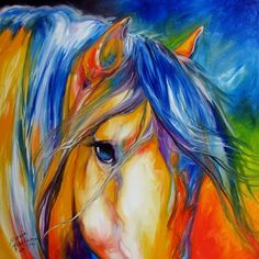 American Art Moves!: MUSTANG LEGEND ORIGINAL OIL PAINTING EQUINE HORSES ART by MARCIA BALDWIN