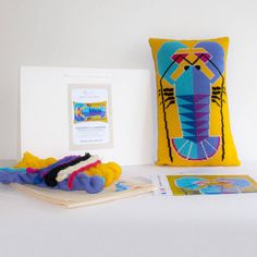 felicity the lobster cross stitch kit by emily peacock   notonthehighstreet.com - Christmas/Birthday present alert anyone looking for ideas!!!!