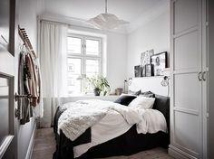 Small Scandinavian bedroom