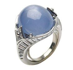 A Star Sapphire and Diamond Ring,  by Bulgari