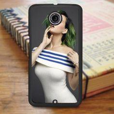 Katty Perry Green Hair Nexus 6 Case