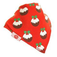 Zippy - Navidad bebé. Bandana babero absorbentes 100% algodón frontal. Dribble babero con correas ajustables (paquete de 4 Set de regalo) Unisex rojo y blanco #modainfantil #modanavidad #ropainfantil #ropanavidad