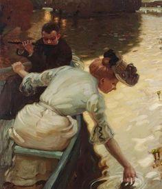 ~ Leo Putz ~ German artist, 1869-1940: Calm Day, 1902