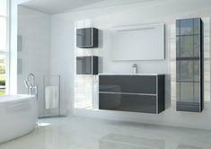 Idee rivestimento bagno, vasca forma arrotondata, parete colore ...