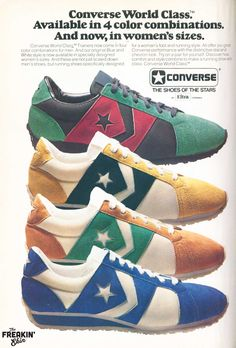 54e994fddee3 Converse World Class 1977 vintage sneaker ad   the Freakin  Ekin