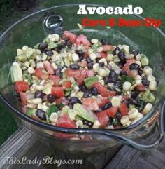 Avocado Corn & Bean Dip Recipe