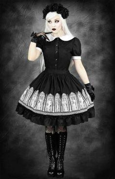 RESTYLE GOTHIC WINDOWS skirt moi meme moitie elg lolita vampire misa cosplay