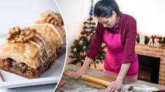 Vánoční cukroví - Oříšková baklava Cheesesteak, Beef, Ethnic Recipes, Food, Meat, Eten, Ox, Ground Beef, Meals