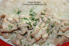 Fraise+de+Veau+à+la+Crème Creme, Potato Salad, Potatoes, Chicken, Ethnic Recipes, Florence, Articles, Cooker Recipes, Potato