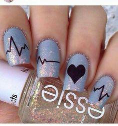 EKG/Cardiac nail art