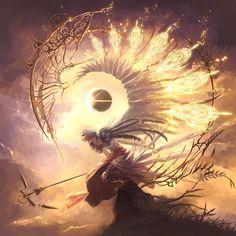 images for anime illustration art Fantasy Kunst, Dark Fantasy Art, Fantasy Artwork, Fantasy World, Dark Art, Angel Warrior, Angels And Demons, Male Angels, Angel Art