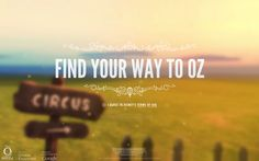 Find Your Way To Oz #webdesign #inspiration #UI #Responsive Design #CSS3 #Animation #HTML5 #Black #Yellow #Blue