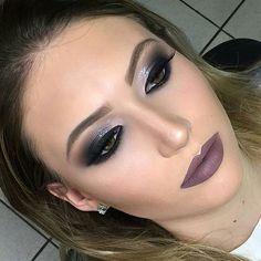 Estou apaixonada nessa #makeup básica super chique  by @alinepinheiromakeup ❤