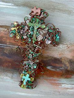 RESERVED FOR JoBETH  Three Cross of Crosses by TotallyCrosses, $97.50