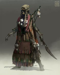Pirate Skeleton Witch 2, Ken Fairclough on ArtStation at http://www.artstation.com/artwork/pirate-skeleton-witch-2